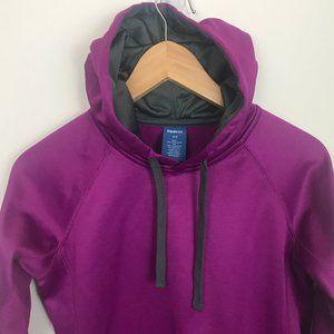 Reebok Women Purple Gray XS Hoodie Logo Pullover